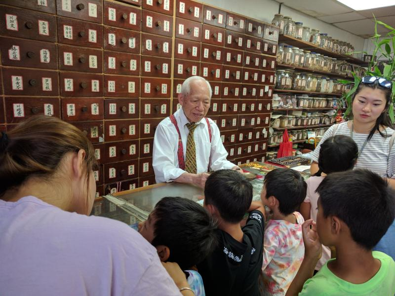 Visiting Chinese Traditional Medicine Store